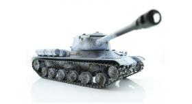 Р/У танк Taigen 1/16 ИС-2 модель 1944, СССР, зимний, (для ИК танкового боя) 2.4G, деревянная коробка 6