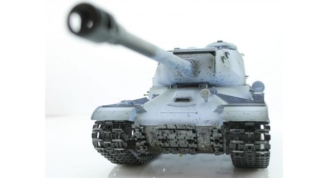 Р/У танк Taigen 1/16 ИС-2 модель 1944, СССР, зимний, 2.4G, деревянная коробка 5
