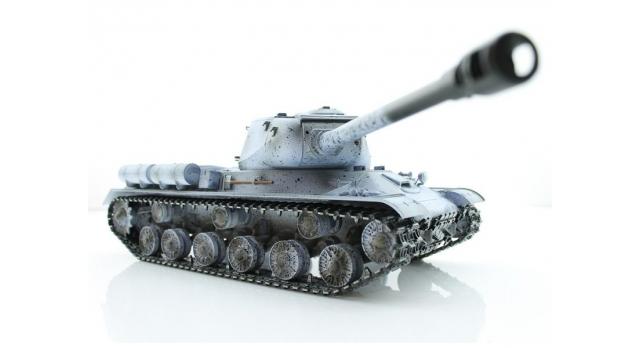 Р/У танк Taigen 1/16 ИС-2 модель 1944, СССР, зимний, 2.4G, деревянная коробка 6