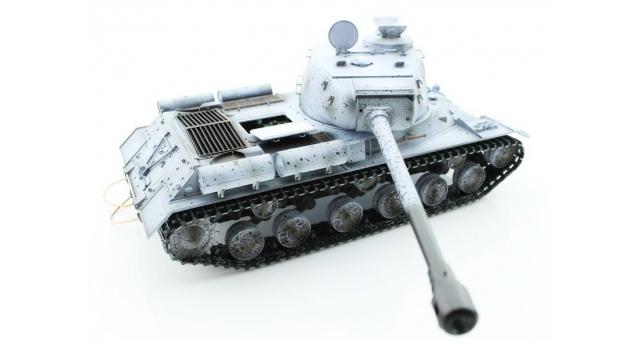 Р/У танк Taigen 1/16 ИС-2 модель 1944, СССР, зимний, 2.4G, деревянная коробка 9