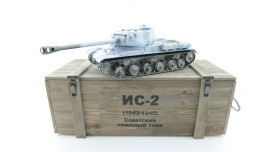 Р/У танк Taigen 1/16 ИС-2 модель 1944, СССР, зимний, 2.4G, деревянная коробка 17