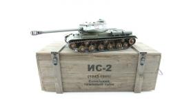 Р/У танк Taigen 1/16 ИС-2 модель 1944, СССР, зеленый, 2.4G, деревянная коробка 13