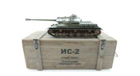 Р/У танк Taigen 1/16 ИС-2 модель 1944, СССР, зеленый, 2.4G, деревянная коробка 14