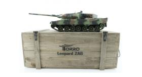 Р/У танк Taigen 1/16 Leopard 2 A6 (Германия) САМО 2.4G RTR, деревянная коробка 1