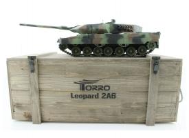 Р/У танк Taigen 1/16 Leopard 2 A6 (Германия) (для ИК танк. боя) САМО 2.4G RTR, деревянная коробка