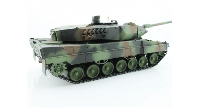 Р/У танк Taigen 1/16 Leopard 2 A6 (Германия) (для ИК танкового боя) САМО 2.4G RTR, деревянная коробка 5