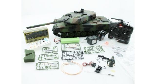 Р/У танк Taigen 1/16 Leopard 2 A6 (Германия) (для ИК танкового боя) САМО 2.4G RTR, деревянная коробка 11