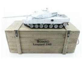 Р/У танк Taigen 1/16 Leopard 2 A6 (Германия) (для ИК танкового боя) UN 2.4G RTR, деревянная коробка