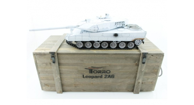 Р/У танк Taigen 1/16 Leopard 2 A6 (Германия) (для ИК танкового боя) UN 2.4G RTR, деревянная коробка 1
