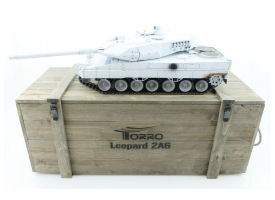 Р/У танк Taigen 1/16 Leopard 2 A6 (Германия) UN 2.4G RTR, деревянная коробка