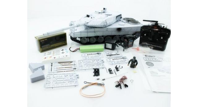 Р/У танк Taigen 1/16 Leopard 2 A6 (Германия) UN 2.4G RTR, деревянная коробка 12