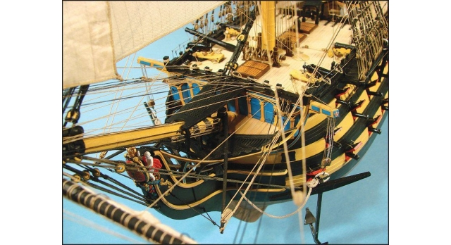 Сборная картонная модель Shipyard линкор HMS Victory (№67), 1/96 15