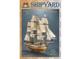 Сборная картонная модель Shipyard фрегат HMS Mercury (№66), 1/96