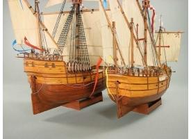 Сборные бумажные модели Shipyard каракка Santa Maria и каравелла Nina (№65), 1/96 1