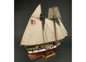 Сборная картонная модель Shipyard балтиморский клипер Berbice в верфи Quay-Portt. 1780 г (№38), 1/96 1