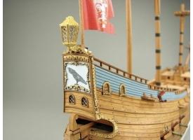 Сборная картонная модель Shipyard флейт Schwarzer Rabe (№39), 1/96 1