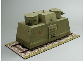 Сборная картонная модель Shipyard бронедрезина Leningrad(№43), 1/25 1