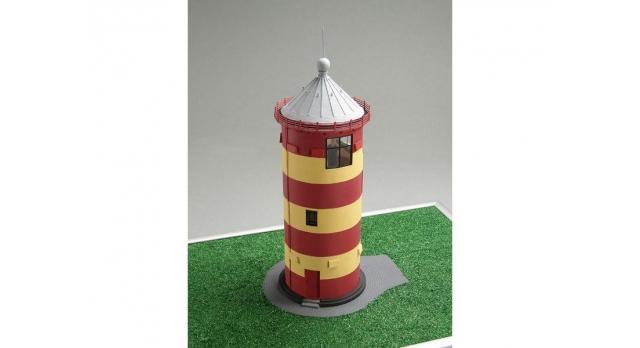 Сборная картонная модель Shipyard маяк Pilsumer Lighthouse (№45), 1/87 2