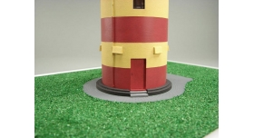 Сборная картонная модель Shipyard маяк Pilsumer Lighthouse (№45), 1/87 5