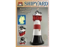 Сборная картонная модель Shipyard маяк Roter Sand Lighthouse (№46), 1/87