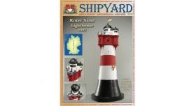 Сборная картонная модель Shipyard маяк Roter Sand Lighthouse (№46), 1/87 1