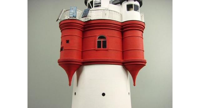Сборная картонная модель Shipyard маяк Roter Sand Lighthouse (№46), 1/87 5