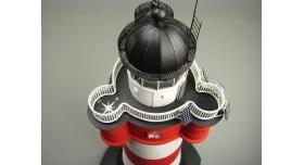 Сборная картонная модель Shipyard маяк Roter Sand Lighthouse (№46), 1/87 6
