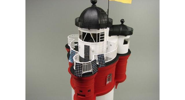 Сборная картонная модель Shipyard маяк Roter Sand Lighthouse (№46), 1/87 7