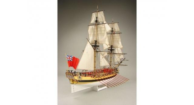 Сборная картонная модель Shipyard шлюп HMS Wolf (№49), 1/96 2