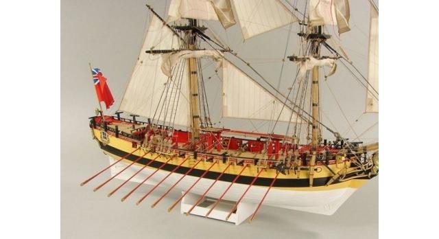Сборная картонная модель Shipyard шлюп HMS Wolf (№49), 1/96 9