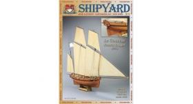 Сборная картонная модель Shipyard люгер Le Coureur (№51), 1/96 1