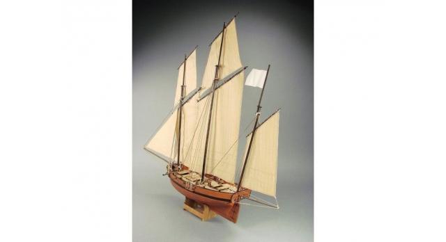 Сборная картонная модель Shipyard люгер Le Coureur (№51), 1/96 2