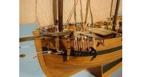 Сборная картонная модель Shipyard люгер Le Coureur (№51), 1/96 4