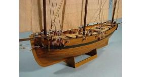 Сборная картонная модель Shipyard люгер Le Coureur (№51), 1/96 5