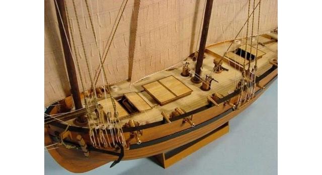 Сборная картонная модель Shipyard люгер Le Coureur (№51), 1/96 7