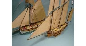 Сборная картонная модель Shipyard люгер Le Coureur (№51), 1/96 8
