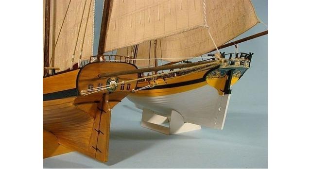 Сборная картонная модель Shipyard люгер Le Coureur (№51), 1/96 9