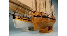 Сборная картонная модель Shipyard люгер Le Coureur (№51), 1/96 10