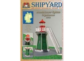 Сборная картонная модель Shipyard маяк Bunthauser Spitze Lighthouse (№54), 1/87