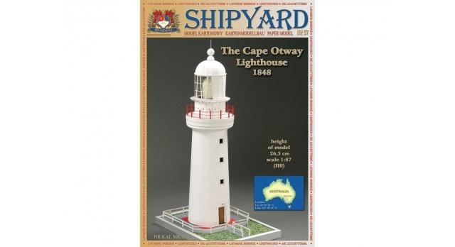 Сборная картонная модель Shipyard маяк Cape Otway Lighthouse (№57), 1/87 1