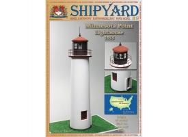 Сборная картонная модель Shipyard маяк Minnesota Point Lighthouse (№58), 1/87