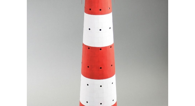 Сборная картонная модель Shipyard маяк Westerheversand Lighthouse (№59), 1/87 2