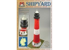 Сборная картонная модель Shipyard маяк Pellworm Lighthouse (№61), 1/87