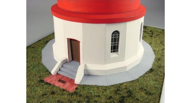 Сборная картонная модель Shipyard маяк Pellworm Lighthouse (№61), 1/87 4