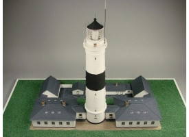 Сборная картонная модель Shipyard маяк Lighthouse Kampen with buildings (№74), 1/87 1