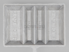4435 Форма для свинца LEE 4-Cavity Ingot Mold with Handle