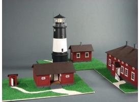 Сборная картонная модель Shipyard маяк Lighthouse Ulkokalla (№18), 1/72 1