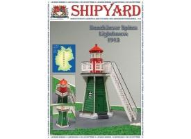 Сборная картонная модель Shipyard маяк Lighthouse Bunthauser Spitze (№24), 1/72