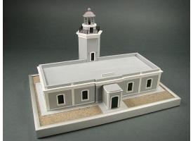 Сборная картонная модель Shipyard маяк Lighthouse Los Morrillos (№30), 1/72 1