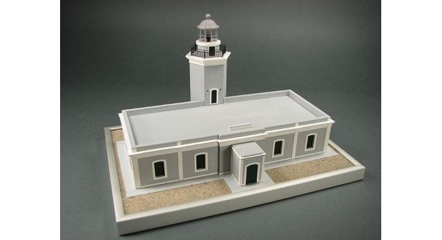 Сборная картонная модель Shipyard маяк Lighthouse Los Morrillos (№30), 1/72 2
